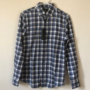 Banana Republic Luxe Flannel Shirt Slim Fit Small